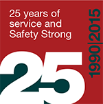 25 years of service and safety strong 1990 to 2015